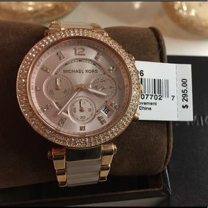 Michael Kors Parker Blush and Rose Gold Tone Watch